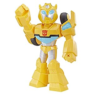 Transformers - Bumblebee (Action Figure da 25 cm Mega Mighties Ispirata alla Serie Animata Rescue Bots Academy)