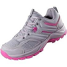 CAMEL CROWN Zapatillas de Senderismo para Mujer Antideslizantes Zapatillas de Trekking Montaña Transpirables Zapatillas de Seguridad