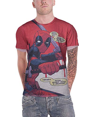 a38c9a6bb874e Deadpool - All Over Men s T-Shirt with Roll-Up Sleeves Grey-M