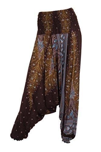 Aladdinhose–Harems-/ Hippie-Hose - Peacock 1 Brown