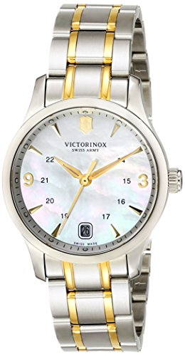 VICTORINOX WOMEN'S 30MM TWO TONE STEEL BRACELET SWISS QUARTZ WATCH 249062