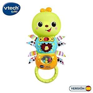 VTech- Anita la oruguita Sonajero electrónico Interactivo con Voz y Luces (3480-527822)