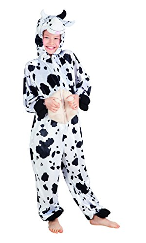 ostüm Kuh aus Plüsch, 140 (Kuh-make-up Für Halloween)