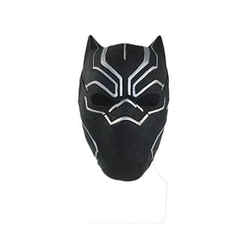 Cosplay Maske Captain America 3 Bürgerkrieg Black Panther Maske Helm Cosplay Halloween Helm Maske Requisiten,Mask-OneSize (Black Panther Comic Kostüm)