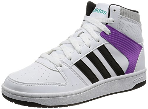 adidas Vs Hoopster Mid W, Scarpe Sportive Donna Blanco (Ftwbla / Negbas / Verimp)