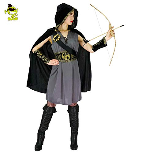 GAOGUAIG AA Purim Holiday Robin Hood Kostüme New Damen Cool Halloween Party Cosplay Party Kostüm Damen Robin Outfits Kostüme SD (Color : Onecolor, Size : - Cool Robin Kostüm