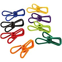 Pack de 30 colores multiusos tendedero utilidad Clips Alambre de acero Clips Clothespin cortavientos para launtry