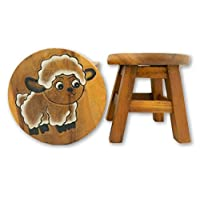Thai Gifts Childrens Wooden Stool - Sheep