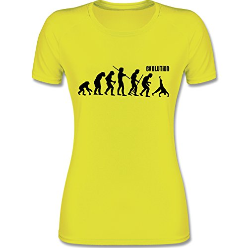 Shirtracer Evolution - Turnen Evolution - XXL - Neon Gelb - F355 - Atmungsaktives Funktionsshirt für Damen