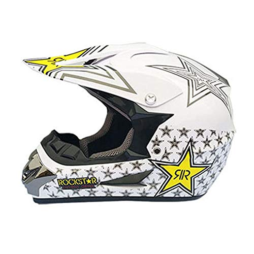 YHWCUICAN Motorrad-Sturzhelm Motocross Helm Motorradhelm Profi Motorrad Offroad Helm Downhill Sicherheit Racing Helm (Size : L)