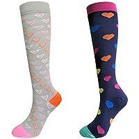 DRESHOW Kompression Socken für Herren und Damen - 2/3 Paar - am besten für Laufen, Medizin, Sportart, Flugreisen... preisvergleich bei billige-tabletten.eu