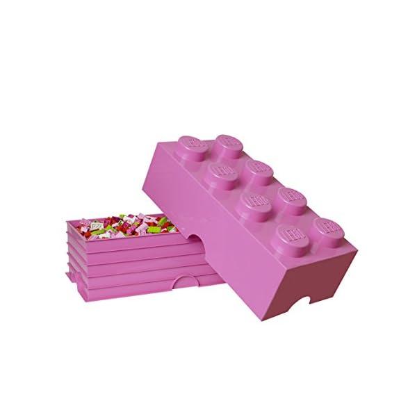 LEGO - Scatola stoccaggio, Arancione, & Room Copenhagen Classic Mattoncino Bottoncini,Contenitore impilabile Litri… 2 spesavip