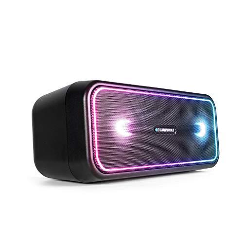 BLAUPUNKT Bluetooth Party Lautsprecher PS 200, True Wireless Stereo Box, Bluetooth 4.2, AUX-IN, Mehrfarbige LED Beleuchtung, Integrierter Akku in schwarz -