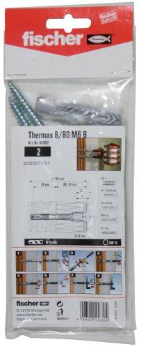Fischer 045680 Thermax 8/80 M6 B Universaldübel mit Rand