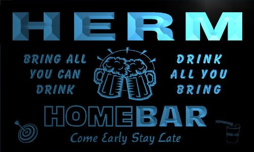 q19890-b-herm-family-name-home-bar-beer-mug-cheers-neon-light-sign