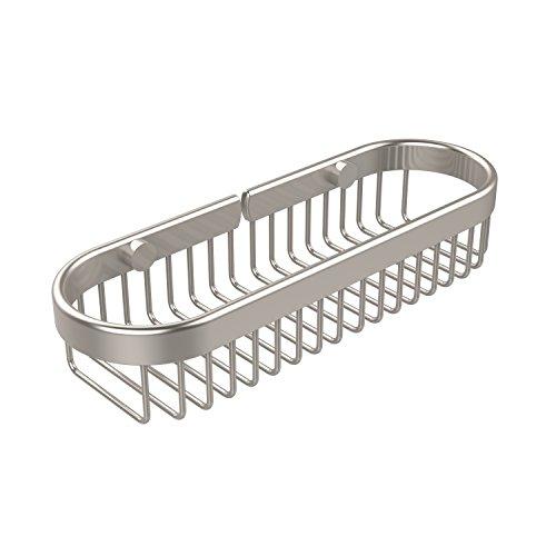 Allied Brass BSK-200LA-SN Oval Toiletry Wire Basket, Satin Nickel - Sn Satin Nickel