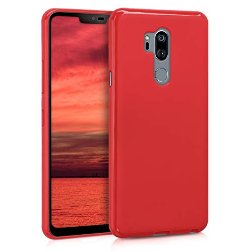 kwmobile LG G7 ThinQ/Fit/One Hülle - Handyhülle für LG G7 ThinQ/Fit/One - Handy Case in Rot matt