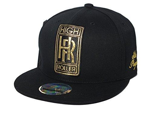 d6d0ee05 New Arrival Black HIGH ROLLER Snapback Baseball Cap Rolls Royce Era Hip Hop  Flat Peak Hat One Size. by state property