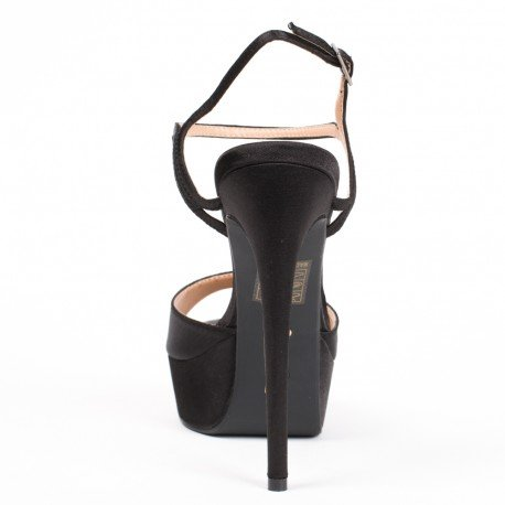 Ideal Shoes - Escarpins à brides Floraline Noir