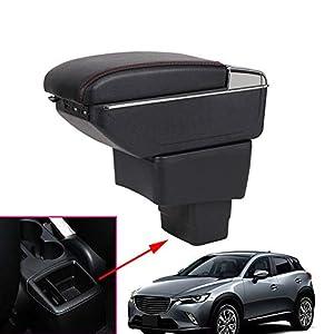 Auto Armlehne Box Für CX-3 Cx3 Center Console Storage Box Halter Fall Aufbewahrungsbox Auto Zubehör 2014-2019(with USB)