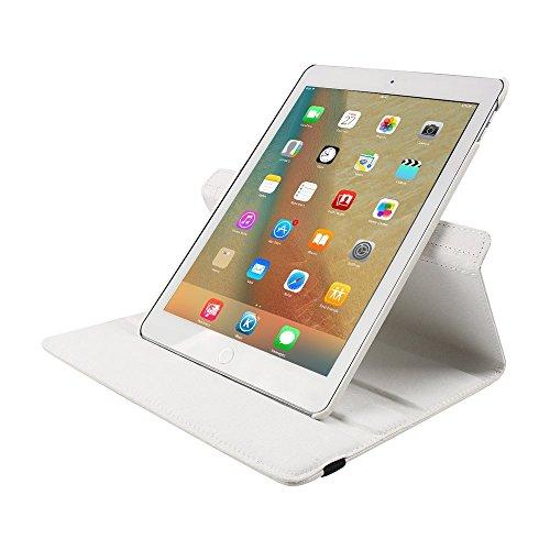 9.7 Zoll Tasche iPad Pro 9.7 , elecfan® hochwertiges PU Leder Etui mit Standfunktion und automatischem Schlaf Funktion, super 360° Anti Wrestling, ist für Apple iPad Pro 9.7 Tablet PC Perfektgeeignet  Weiß