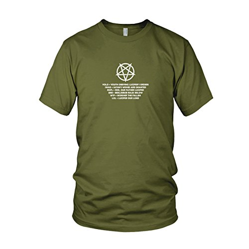 Pentagram Lingo - Herren T-Shirt Army