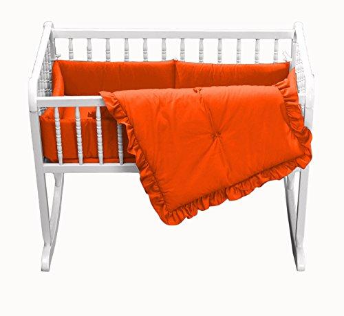 Baby Doll Bedding Solid Cradle Set, Orange by BabyDoll Bedding