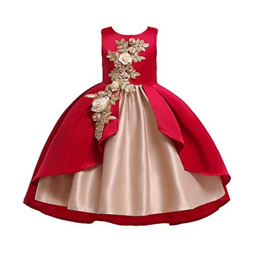 Ball Kostüm Kleid Dance - IOSHAPO Prinzessin verkleiden Sich für Mädchen Flower Pageant Dance Ball Party Hochzeitskleid Kostüm