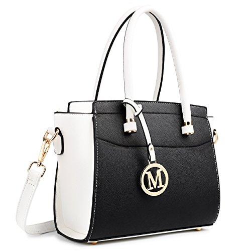 Miss Lulu , Damen Schultertasche M, Mehrfarbig - weiß / schwarz - Größe: Medium