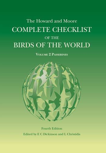 The Howard and Moore Complete Checklist of the Birds of the World: Passerines Volume 2 por Edward C. Dickinson