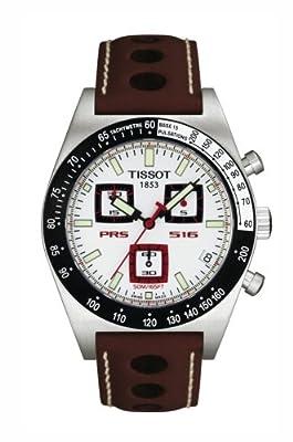 Tissot T91141631 - Reloj cronógrafo de caballero de cuarzo con correa de piel marrón