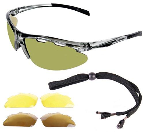 b2b865e21ffa0 Rapid Eyewear Fore LUNETTES DE SOLEIL GOLF avec interchangeables. Pour  hommes et femmes. Une