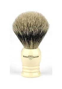 Edwin Jagger, Handmade, Imitation Ivory English Shaving Brush ( Super Badger )