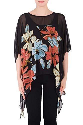 Joseph Ribkoff Black & Multicolor Top Style - 191630 Spring Summer 2019