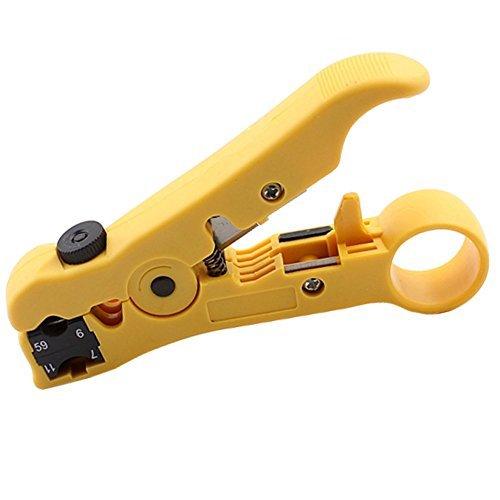 Abisoliergeräte Kabel Stripper Cutter für Flach oder rund UTP CAT5 CAT6 Draht Koaxialkabel Koax Koaxial Stripping Tool Kabelschneider Drahtschneider Abisolierzange A0056