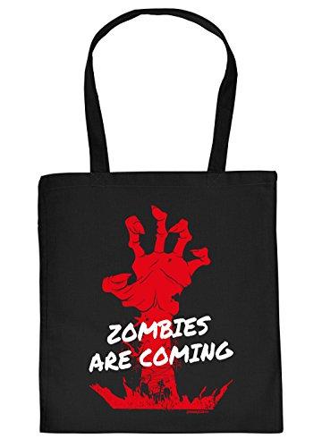 Stofftasche mit Halloween Motiv: Zombies are coming - Einkaufstasche - Geschenk - (Zombie Gute Kostüme Themen)
