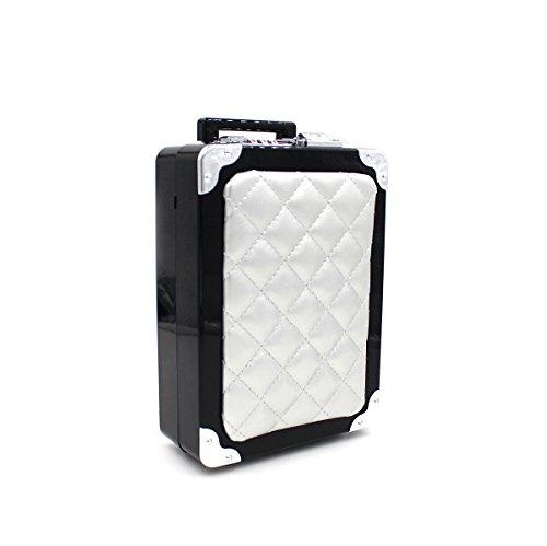 WYB Minibeutel / Taschenwagen / Abendtasche / Acryl-Tasche / Handgepäck Silver