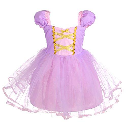 Rapunzel Kostüm Baby - Lito Angels Baby Mädchen Prinzessin Rapunzel Kleid Kostüm Weihnachten Halloween Party Verkleidung Karneval Cosplay Kinder 18-24 Monate