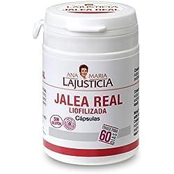 Ana Maria Lajusticia - Jalea real liofilizada - 60 cápsulas reduce el cansancio y la fatiga, refuerza el sistema inmunitario. Envase para 60 días de tratamiento.