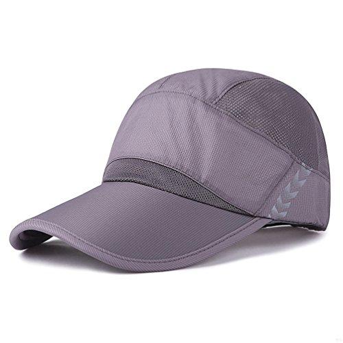 32747955a75 Baseball Cap Quick Dry Lightweight Running Hat Waterproof Breathable of Sun  Cap Long Large Bill Sport