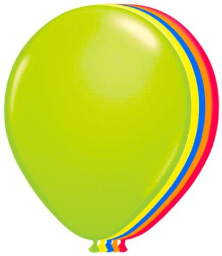 NEU Luftballons 100er-Pack Ø ca.25cm neon (Dekorationen Party Neon)