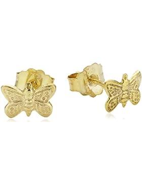 ZEEme Kinder-Ohrstecker 333 Gelbgold Schmetterling 216320007