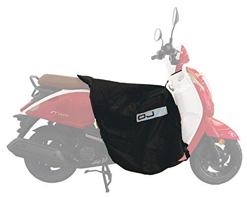 OJ-JC0020-Fast-Coprigambe-Universale-in-Nylon-per-Scooter-Montaggio-Rapido-Ripiegabile-Nella-Pettorina-Impermeabile-Doppio-Strato-Nero-Taglia-Unica