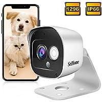 Caméra Surveillance WiFi Extérieure, SriHome SH029 Caméra IP WiFi 3MP, Caméra Sécurité Etanche IP66 1296P avec Détection de Mouvement, Audio Bidirectionnel