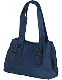 MB8731 - Samtlebe® - Shopper - Große Handtasche Tasche aus Lederimitat in Blau
