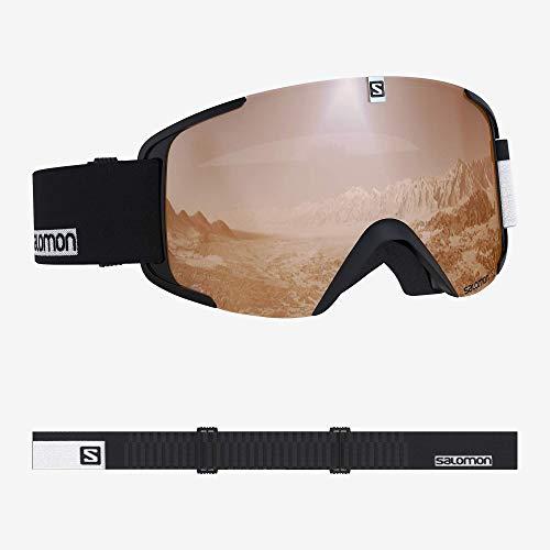 Salomon, Xview Access, Máscara de esquí unisex, Negro-Blanco/Naranja (Universal Tonic), L40518600