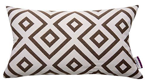 TOM TAILOR 564184 Funda de T-Abierto de Cuadrados, 30 x 50 cm, Mezcla de algodón, Colour marrón