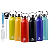 BOGI 600ml Double Wall Vacuum Insulated Stainless Steel Water Bottle-Scratch Resistance&Eco-Friendly for Outdoor