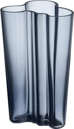 Iittala 1007826 Aalto Finlandia jarrón, altura 201 mm, lluvia azules