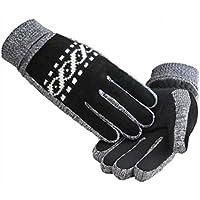 Guantes calientes del otoño y del invierno guantes al aire libre guantes de ciclo unisex (tamaño libre)